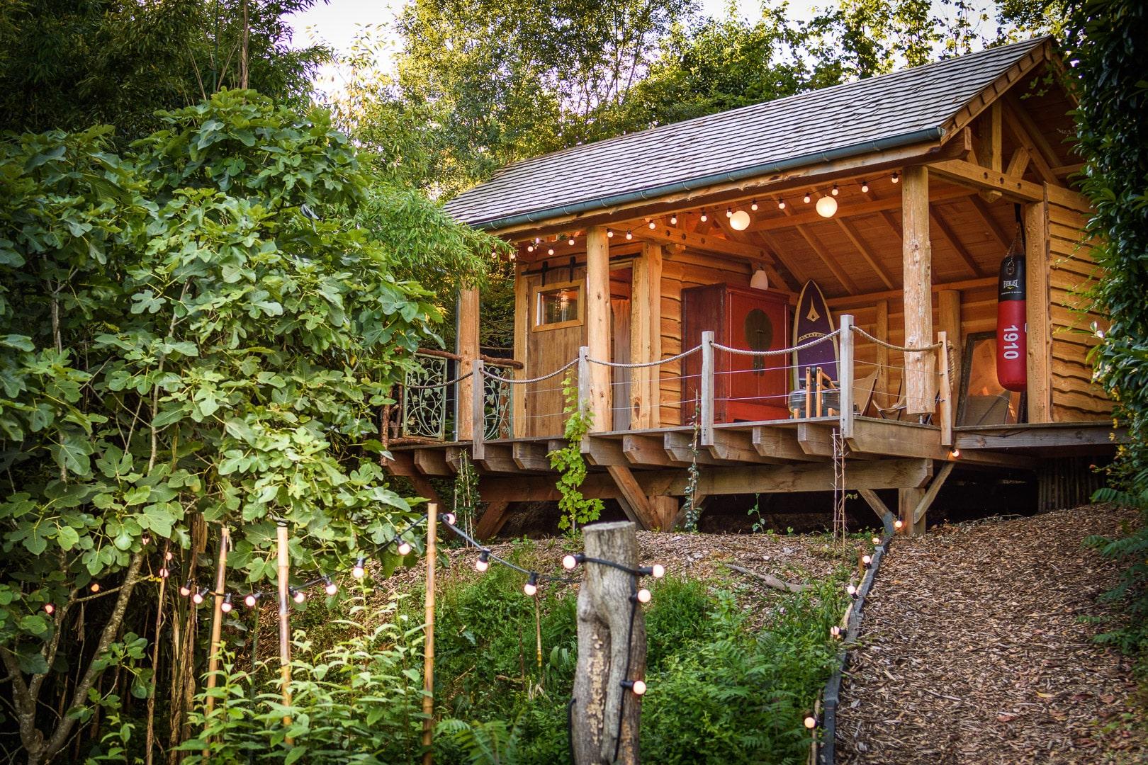 EtxeXuria-cabane terrasse nuit