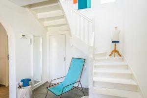 EtxeXuria-escalier transat turquoise et teljpg
