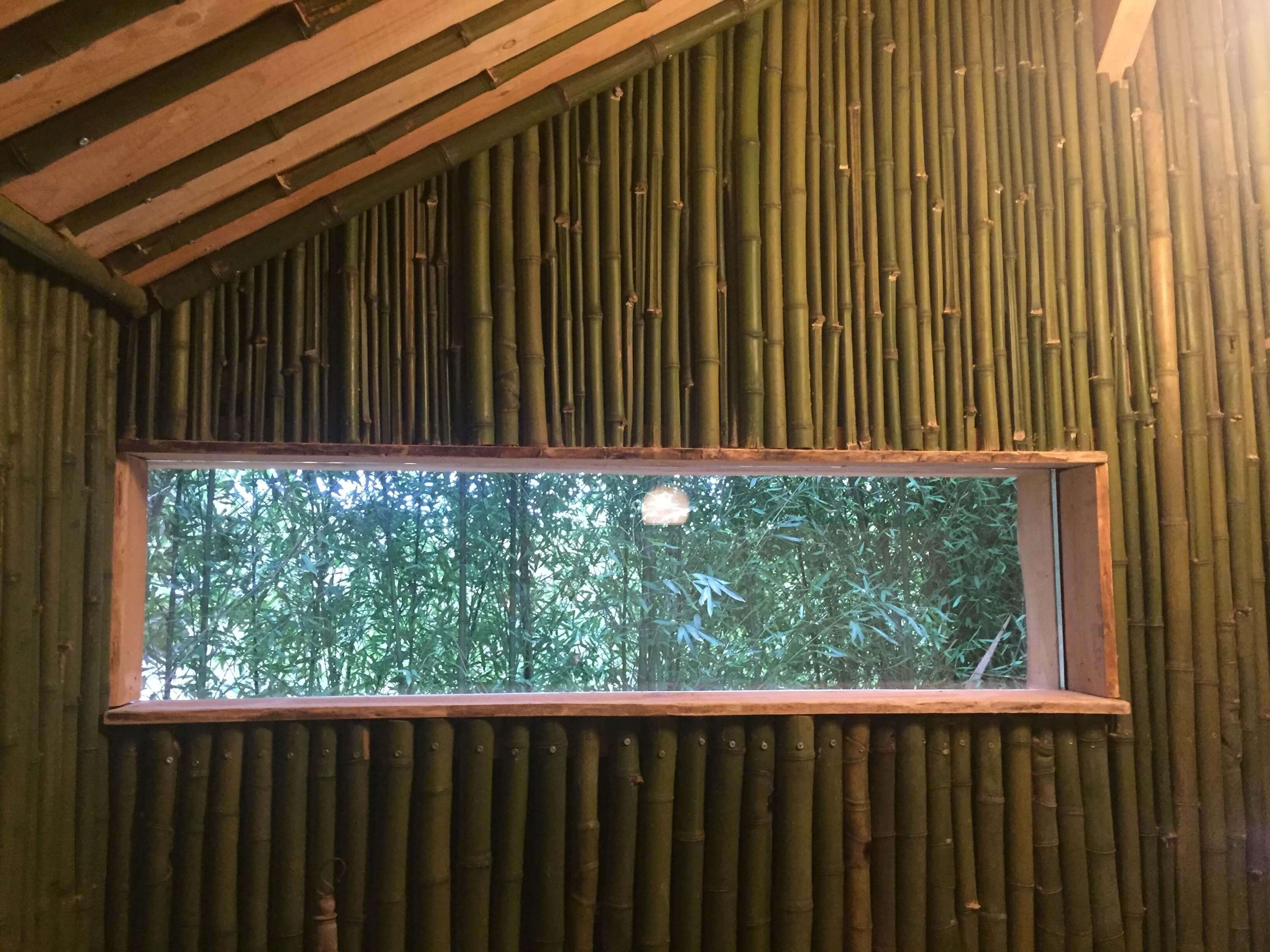 Cabane des bambous murs bambous